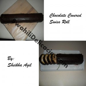 chocolate coivered swiss roll